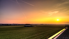 A farm watching the sunset in silence. (Alex-de-Haas) Tags: oogvoornoordholland dji dutch fc6310 holland nederland nederlands netherlands noordholland aerial aerialphotography air boerenland drone farmland landscape landschaft landschap lucht meadows skies sky sundown sunset weilanden winter zonsondergang