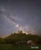 Celestial Corfe (macdad1948) Tags: milkyway dawn dorset weymouth stars corfe studland corfecastle astro nightscape wareham nationaltrust