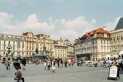 Prague, Czech Republic, 1996 (elevenmonthsinexile) Tags: architecture chinongenesisiii czechrepublic europe film oldtownsquare prague