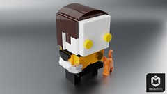 Data and Spot (ORION_brick) Tags: data spot lt commander star trek generations officer lore lego brickheadz