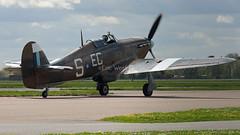 PZ865/EG-S  HURRICANE  BBMF  RAF (MANX NORTON) Tags: pz865egs hurricane bbmf raf coningsby egxc dakota lancaster spitfire chipmunk