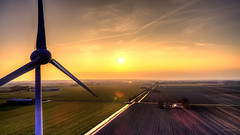 West Frisian farmlands. (Alex-de-Haas) Tags: oogvoornoordholland dji dutch fc6310 holland nederland nederlands netherlands noordholland aerial aerialphotography air boerenland drone energie energy farmland landscape landschaft landschap lucht meadows skies sky sundown sunset weilanden wind windmill windturbine windmolen winter zonsondergang oudkarspel nl