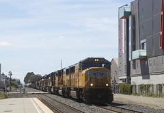 On the Move at Berkeley (imartin92) Tags: berkeley california unionpacific railroad railway freight train emd sd70m sd60m locomotive