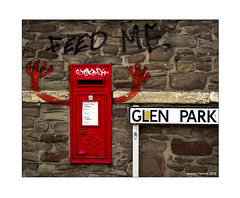 Feed Me (zolaczakl) Tags: bristol eastville postbox streetart graffiti red glenpark wall photographybyjeremyfennell nikond7200 uk nikonafsnikkor24120mmf4gedvrlens england