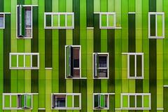Green and raining (Maerten Prins) Tags: spain spanje madrid new building modern green window windows rain line lines color colour geometry geometric wall