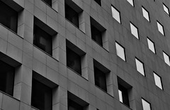 Architecture in Oslo (2) (EvenHarbo) Tags: architecture nikond7100 nikon norge norway oslo building blackandwhite city window barcode bjørvika dronningeufemiasgate