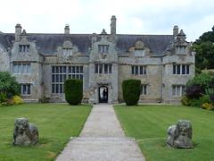 Trerice (Marit Buelens) Tags: architecture building house manor elizabethan tudor gables lions garden grass lawn shrubs fz200 nationaltrust uk england cornwall