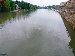 primomaggiopioggia4 (archgionni) Tags: sky river po trees buildins water ponte bridge riflessi reflections