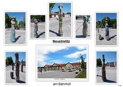 Ntz. - am  Bahnhof (Knipser@) Tags: neustrelitz hw2018 collage skulpturen