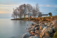 Point Aux Barques Lighthouse (ericstadler83) Tags: sony gm 2470mm 2470 wide ultra 7rm2 a7rii a7r2 a7rm2 sel2470gm nd 10 stop breakthrough tehnology lighthouse michigan point aux barques golden hour sunrise morning landscape