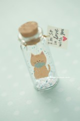 I'm so in love with you,Tiny message in a bottle,Miniatures,Personalised Gift,love card,Valentine Card,Gift for her/him,Girlfriend gift, birthday card, holiday card and funny card ideas (charles fukuyama) Tags: cat kitten kitty fish cuteanimals handmadecard messagecard paper pet glitter unique bottle greetingcard seasonalcard lovecard homedecor deskdecor kikuike miniaturescard partygift