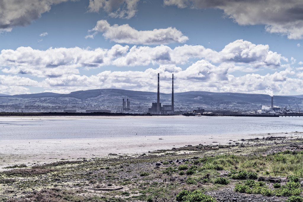 THE POOLBEG STACKS [AS SEEN FROM CLONTARF ROAD IN DUBLIN]-139841