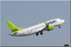 YL-BBY, Air Baltic, Boeing 737-36Q(WL) (OlivierBo35) Tags: spotter spotting cdg roissy boeing b737 airbaltic baltique