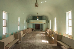 Tell The Congregation (Wayne Stadler Photography) Tags: worship ghosttown pews building towns sierrablanca buildings rural empty altar religion windows abandoned texas ruins derelict ghosttowns weathered semiabandoned church structures usa poor broken broke