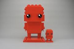 LEGO Monochrome Big BrickHeadz in Red (Pasq67) Tags: lego monochrome afol toy toys flickr legography pasq67 brickheadz red france 2018 big moc