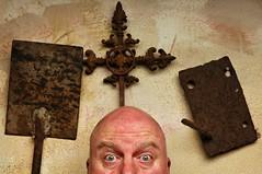 Portrait with Three Rusty Items (Studio d'Xavier) Tags: werehere rustgloriousrust three 141482