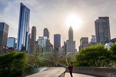 View Points (yarnim) Tags: cityscape chicago rx1 landscape subject carlzeiss 35mm sun sky zeiss sony street millenniumpark illinois buildings architecture single