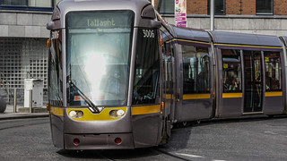 Busáras Luas Tram Stop And Some Trams [Red line Service]-140283