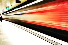 Zürich Underground (antionion) Tags: swisstrains underground red urbanphotography streetphotographie urban tsüri züri speed train mainstation hauptbahnhof zürich