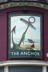 Anchor, Woodbridge. (piktaker) Tags: suffolk pub inn bar tavern pubsign innsign publichouse anchor woodbridge greeneking