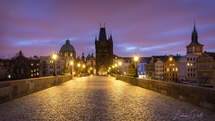 Charles bridge in the early morning... (DaLiu_) Tags: bridge europe prague czech city sunrise town tower tourism old castle charles landmark architecture republic building travel cityscape praha european sky history gothic church bohemia river medieval famous urban vltava capital sun view religion morning cathedral light sunset landscape statue sightseeing vacation stone historical karluv scene unesco dome street baroque