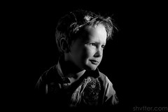 Untitled (#Weybridge Photographer) Tags: cute boy child studio portrait adobe lightroom canon eos dslr slr 5d mk ii mkii monochrome black background low key