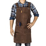 Waxed Canvas Heavy Duty Shop Apron With Pockets Adjustable up to XXL for Men and Women - Texas Canvas Wares - DiZiWoods Store thumbnail