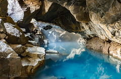 Grjótagjá Cave (Mikko Manner) Tags: nikond7200 sigma1835mmf18art iceland grötagjacave cave bluewater water hotwater purewater travel roadtrip 2018 photography rock clear longexposure exposure adobelightroom tripod nature natural