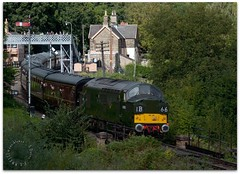 D6700 (zweiblumen) Tags: d6700 class37 type3 br diesel vintage classic locomotive train 1960 severnvalleyrailway highley shropshire england uk ib66 canoneos50d zweiblumen picmonkey