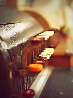 Rusty old cash register