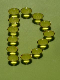 Transparent vitamin d pills