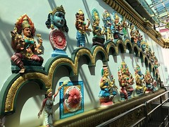 A day of deities (BiggestWoo) Tags: street queen queenstreet malaysia adoration worship religion georgetown colourful colour deity deities god gods idol idols statues temple hindu penang
