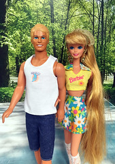 Barbie Hollywood Hair doll, Ken My First doll (alenamorimo) Tags: barbie barbiedoll kendoll barbiecollector park spring