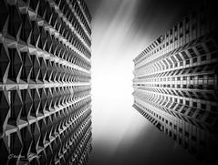 Paris 2018 - Architecture [EXPLORED] (cesbai1) Tags: paris front de seine france 75 immeubles building black white noir et blanc nb bw tour espace 2000 perspective architecture modern moderne inexplore explored explore