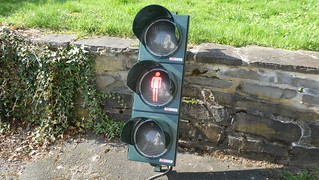 AVT-STOYE LED Pedestrian Signal with white lenses