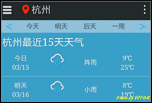 杭州 2018-03-15 天氣