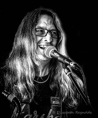Day 121. (lizzieisdizzy) Tags: blackandwhite blackwhite black whiteandblack white whiteblack monochrome mono monotone monochromatic male music man musician microphone mic musical chromatic rock blues song singer singing sing smiling smile hippy longhair blonde glasses happy howiemarsh