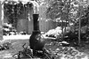 No smoke (Edwin Verhulst) Tags: bw monochrome bokeh blur garden oven grill burner