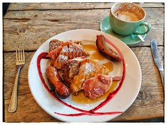 French Toast (tubblesnap) Tags: brunch ls6 cafe leeds french toast bacon maple syrup coffee