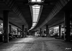 Concrete Jungle (Jakesb_001.NEF) Tags: concrete jungle urbanjungle urbanjunge bridge under underthebridge road parking car cars driver driving walk walking light play gray black white blackandwhite whiteandblack color colour dirt dirty dirtroad dust elements air alone serbia srbija sky sad street serbian spring streets day flickr from habitat home enjoy vojvodina bijela bijeli bijelo life europe european relaxing relax travel traveling outdoor interesting city priroda people nikon nikkor 7100 lens lenses citylife view beautifull novisad novi