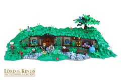 Gully Gardens (Home of the Sackville-Baggins) (-Balbo-) Tags: lego moc exploringthe shire exporing hobbit lordoftherings creation bauwerk auenland herr der ringe sackheim beutlin sackvillebaggins bilbo bag end hole hobbiton hobbingen matamata balbo roguebricks