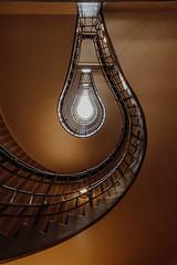 light bulb (FButzi) Tags: prague czech staircase spiral black madonna house cubism museum