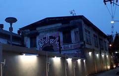 bomb graffiti on the side of a house (_gem_) Tags: trip vacation holiday bangkok thailand city street urban graffiti streetart architecture building design