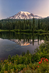 Eternal Love (Philip Kuntz) Tags: mothersday mothers moms grandmothers mtrainier sunrise dawn daybreak morning reflections mtrainiernationalpark reflectionlake stevenscanyonroad volcano washington