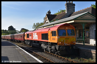 No 66783 The Flying Dustman 13th May 2018 Swanage Railway Diesel Gala