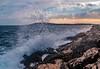 Adriatic Sea Breeze (Wolfhowl) Tags: nomad landscape storm islands sailing water waves balcans breeze croatia background shore sea blue sunrays adriatic clouds dusk hvar travel sunset rocks island sky seascape spring may boats europe