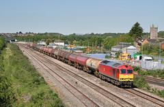 60091 6B13 0500 Robeston - Westerleigh at Severn Tunnel Junction 14.05.2018 (1) (The Cwmbran Creature.) Tags: british rail class train trains railway railways 60 dbs fuel tank tanker tanks