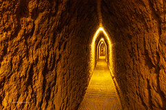 Ancient Tunnel (pietkagab) Tags: cholula puebla pyramid largest tunnel network undergrand ancient precolumbian civilisation archeology archeological zone mexico mexican pietkagab photography pentax piotrgaborek pentaxk5ii travel trip tourism adventure sightseeing