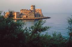 Early morning (giorgiorodano46) Tags: agosto1980 august 1980 giorgiorodano analogic analogica lecastella castello castle mare sea mattino morning calabria italy tamerici