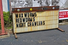 Bait, Peebles, OH (Robby Virus) Tags: peebles ohio oh sign signage bait wax worms red night crawlers